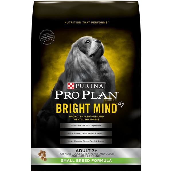 Pro Plan Dog Dry Bright Mind Adult 7+ Small Breed Formula Dog Food