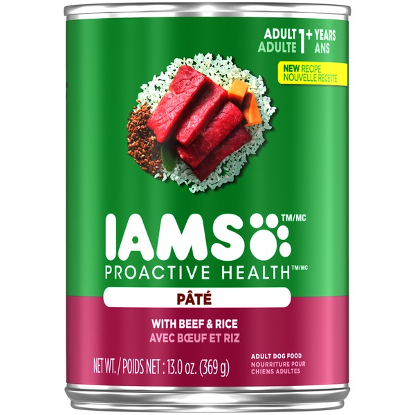 Iams ProActive Health Premium Pate with Beef & Rice Dog Food