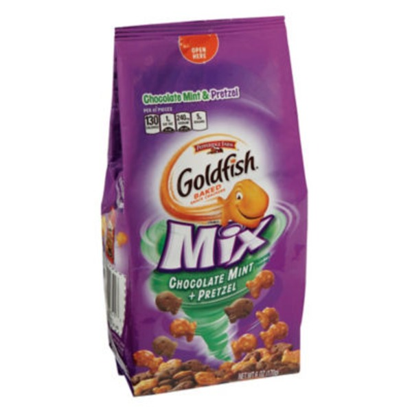 Pepperidge Farm Goldfish Goldfish Mix Chocolate Mint + Pretzel Baked Snack Crackers