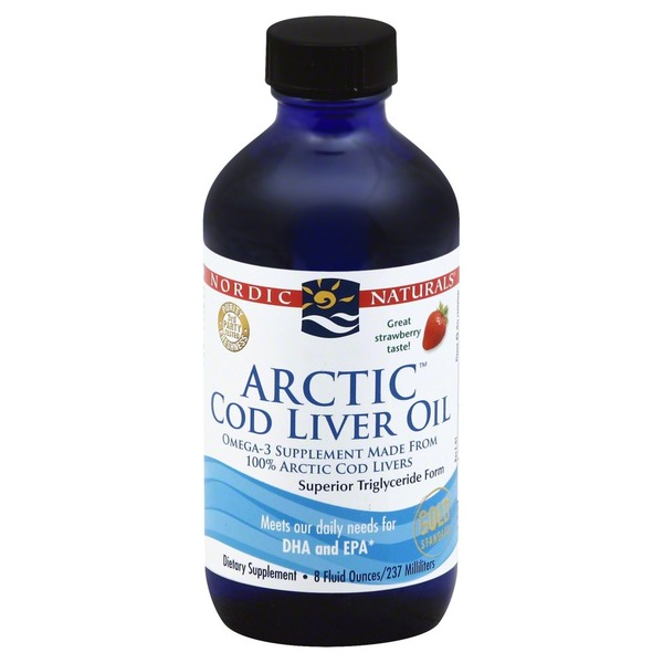 Nordic Naturals Arctic Cod Liver Oil, Strawberry, Bottle