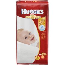 HUGGIES Little Snugglers Diapers Size 1, 35 Diapers
