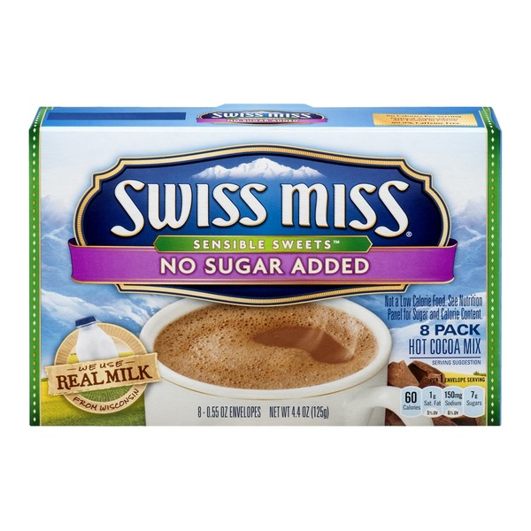 Swiss Miss Sensible Sweets Hot Cocoa Mix No Sugar Added - 8 CT