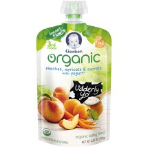 Gerber Organic 3rd Foods Baby Food, Peaches, Apricots & Carrots with Yogurt, 4.23 oz Pouch