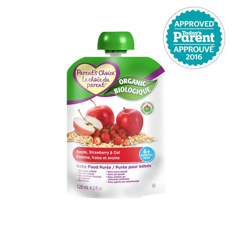 Parents Choice Organic Strawberry Carrot & Quinoa Baby Food