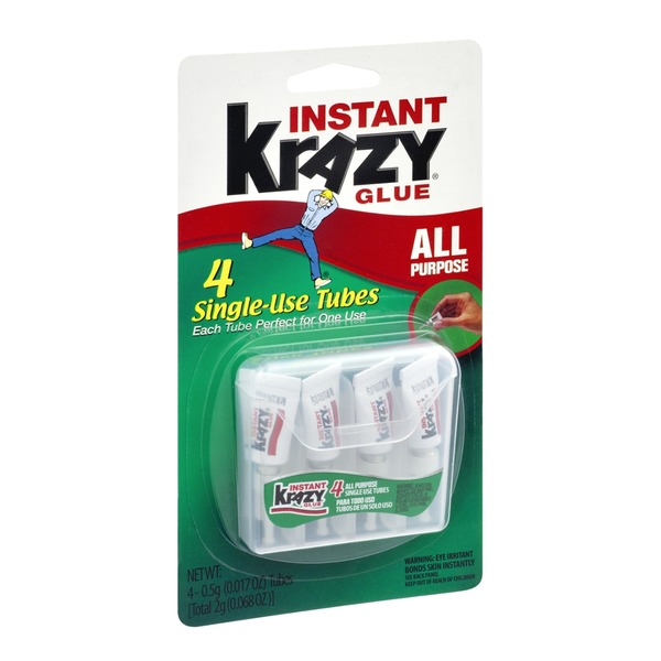 Krazy Glue Instant All Purpose Glue - 4 CT