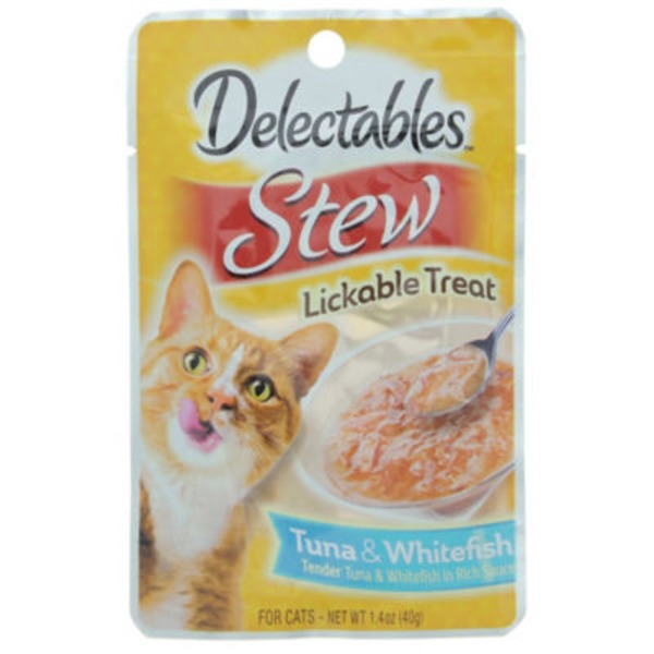 Hartz Delectables Stew Lickable Treat For Cats Tuna & Whitefish
