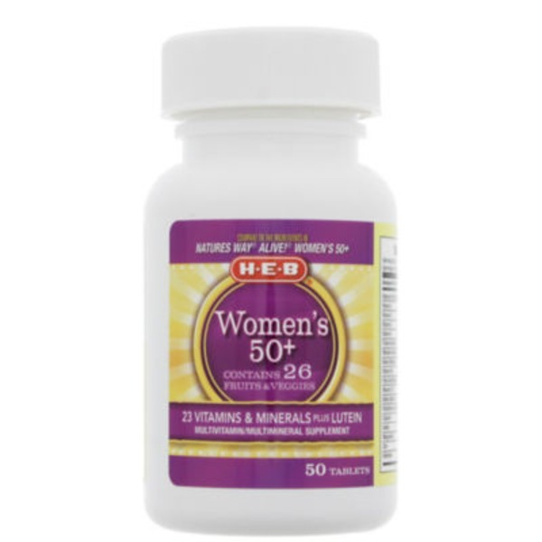 H-E-B Women's 50+ Multivitamin Tablets