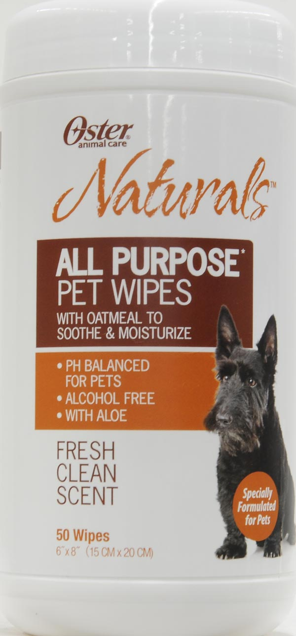 Oster  Naturals All-Purpose Pet Wipes