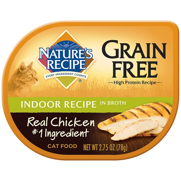 Nature's Recipe Grain Free Indoor Recipe in Broth Cat Food