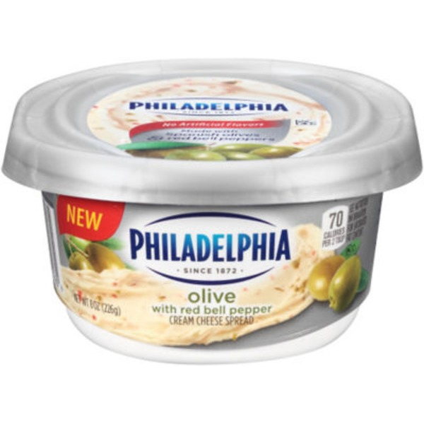 Kraft Philadelphia Olive with Red Bell Pepper Cream Cheese Spread