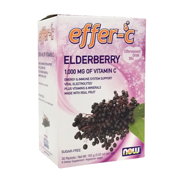 Now Effer C Elderberry 1,00 mg vitamin C Effervescent Drink packets