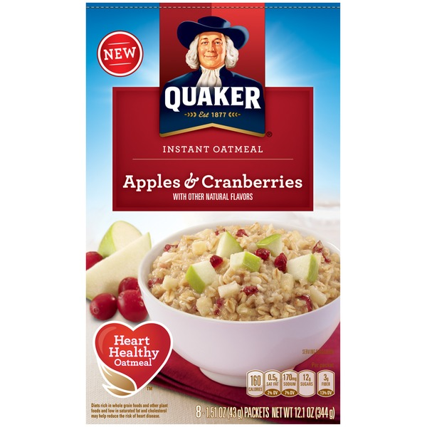 Quaker Oatmeal Apples & Cranberries Instant Oatmeal