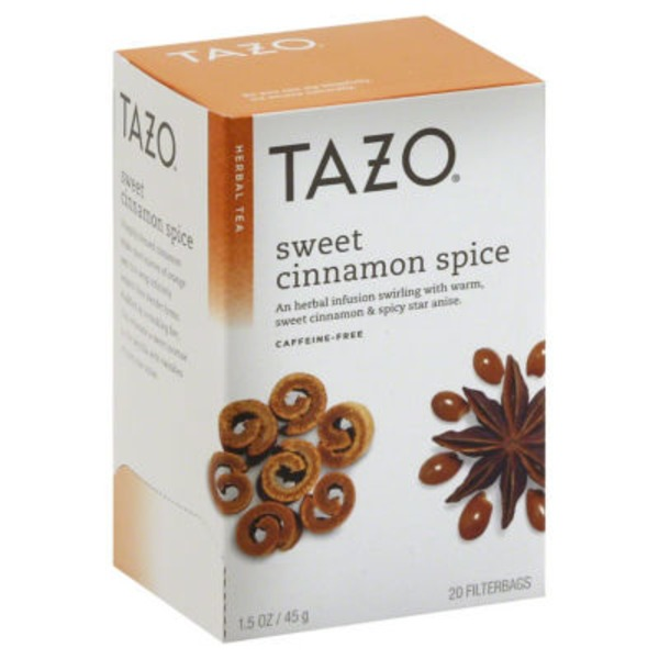 Tazo Tea Herbal Tea Sweet Cinnamon Spice Caffeine-Free Tea Bags