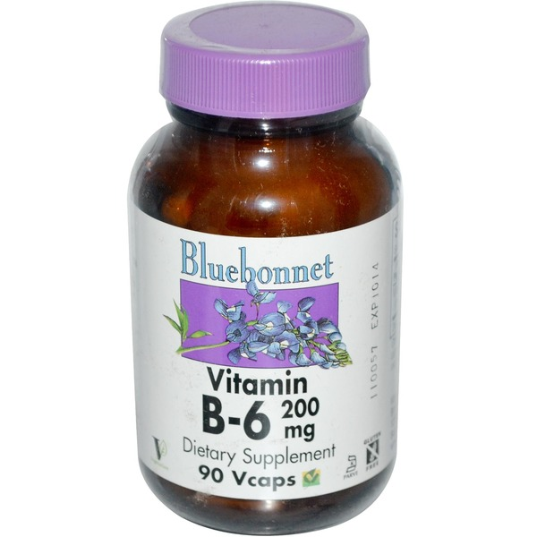Bluebonnet Vitamin B-6 200 mg Vcaps