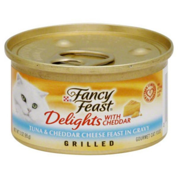 Fancy Feast Delights Grilled Tuna & Cheddar Cheese Feast in Gravy Cat Food