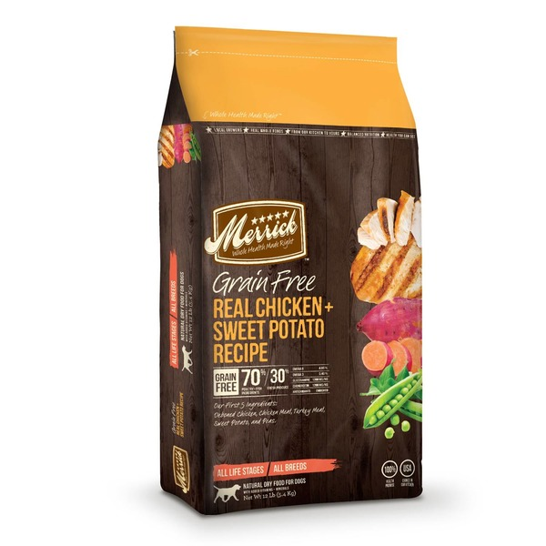 Merrick Grain Free Real Chicken & Sweet Potato Dry Dog Food 12 Lb.