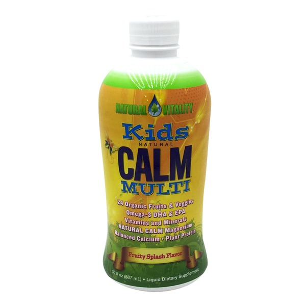 Natural Vitality Kids Natural Calm Multivitamin, Fruity Splash Flavor