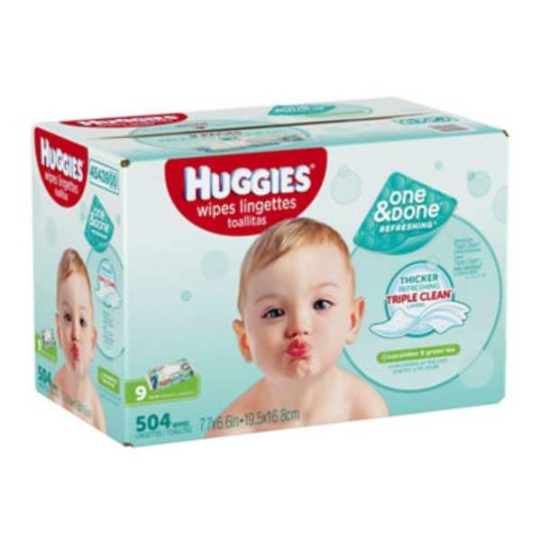 Huggies One & Done Wipes