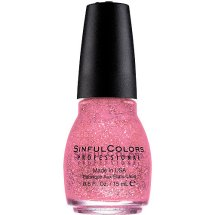 Sinful Colors Professional Nail Polish, Pinky Glitter, 0.5 Fl Oz