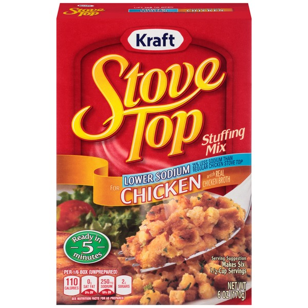 Kraft Stove Top Lower Sodium for Chicken Stuffing Mix