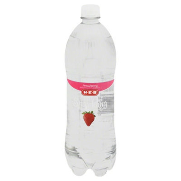 H-E-B Sugar Free Sparkling Water Strawberry