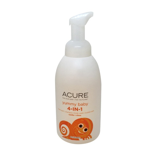 Acure Vanilla & Citrus Yummy Baby 4-In-1 Wash