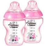 Tommee Tippee Closer to Nature 9-oz Decorated Baby Bottles BPA-Free Girl