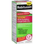 Adult Robitussin Maximum Strength Severe Multi-Symptom Cough Cold+Flu Liquid