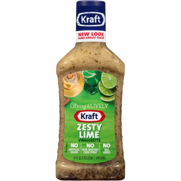Kraft Salad Dressing Zesty Lime Vinaigrette Dressing