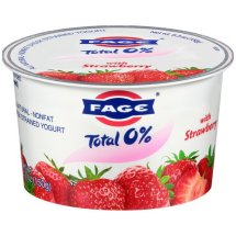Fage Total 0% Nonfat Greek Strained Yogurt with Strawberry, 5.3 oz