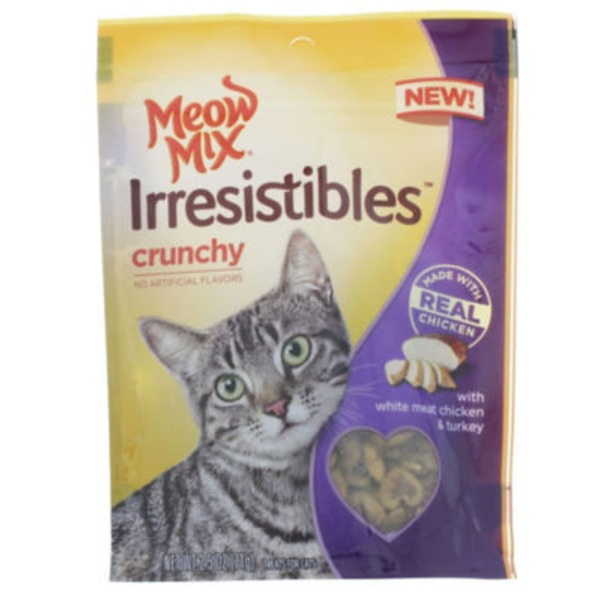 Meow Mix Irresistibles Crunchy White Meat Chicken & Turkey Cat Treats
