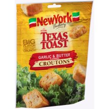 New York Brand The Original Texas Toast Garlic & Butter Flavored Croutons, 5 oz