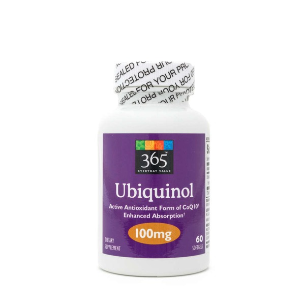 365 Ubiquinol 100mg Softgels