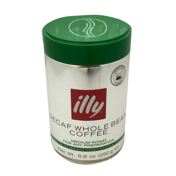 Illy Whole Bean Medium Roast Decaf Coffee