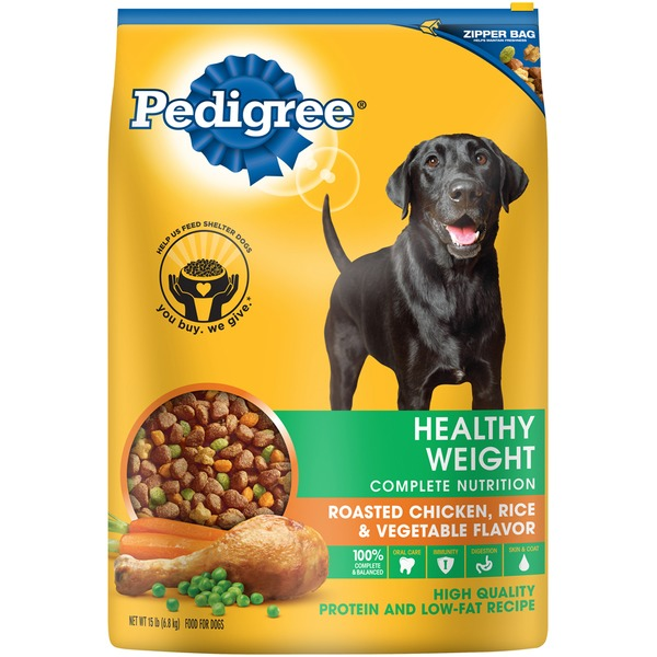 Pedigree Healthy Weight Complete Nutrition Roasted Chicken, Rice & Vegetable Flavor Dog Food