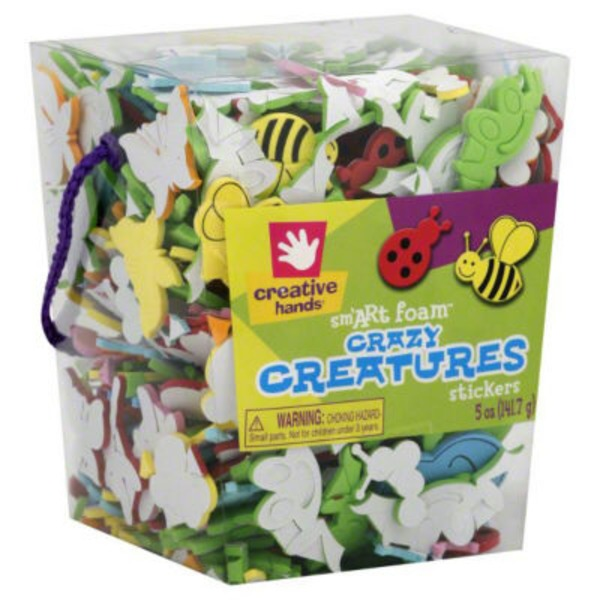 Creative Hands Crazy Creatures Stickers