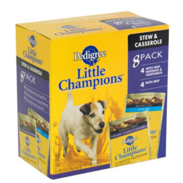 Pedigree Little Champions Casserole Dinner & Butcher's Stew Wet Dog Food