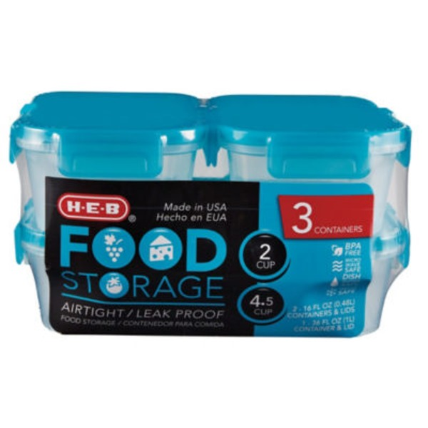 H-E-B Food Storage Teal Value Pack