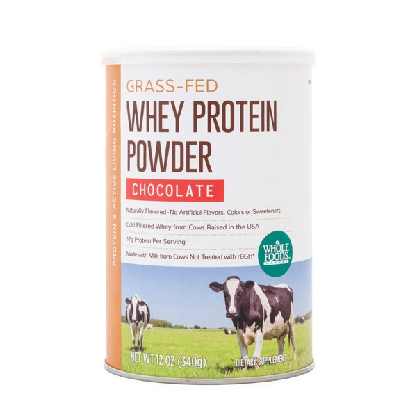Whole Foods Market Chocolate Grass Fed Whey Protein Powder