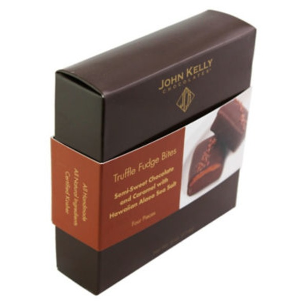 John Kelly Chocolates Truffle Fudge Bites Semi-Sweet Chocolate & Caramel With Hawaiian Alaea Sea Salt