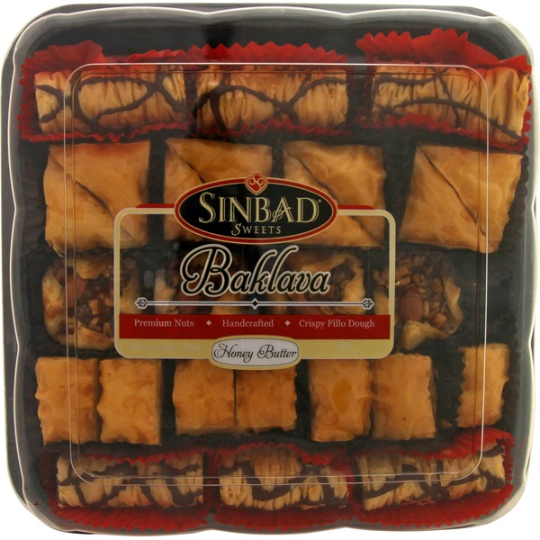 Sinbad Sweet Honey Baklava 25 Oz (1.56 Lbs)