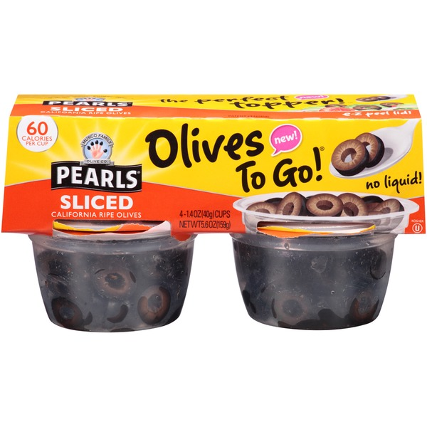 Pearls Olives to Go! Sliced Ripe Black Olives