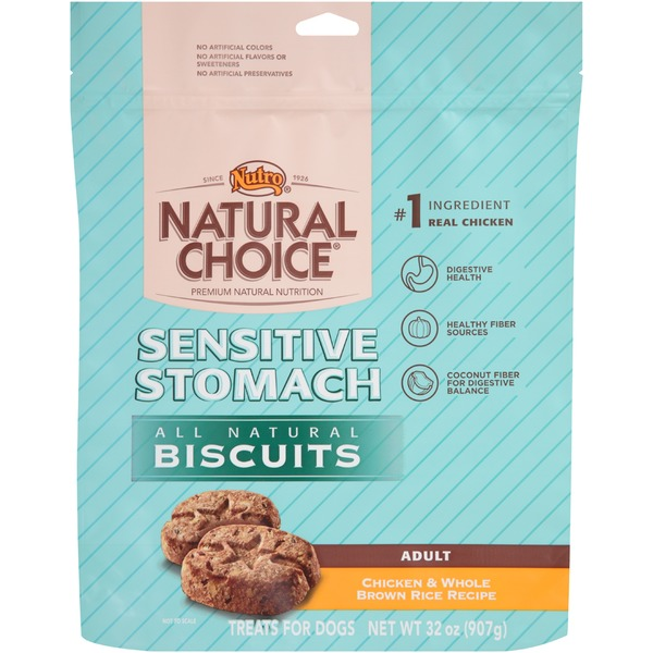 Nutro Natural Choice Adult Sensitive Stomach Chicken & Whole Brown Rice Recipe All Natural Dog Biscuits