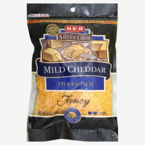 H-E-B Naturals Shredded Mild Cheddar Cheese