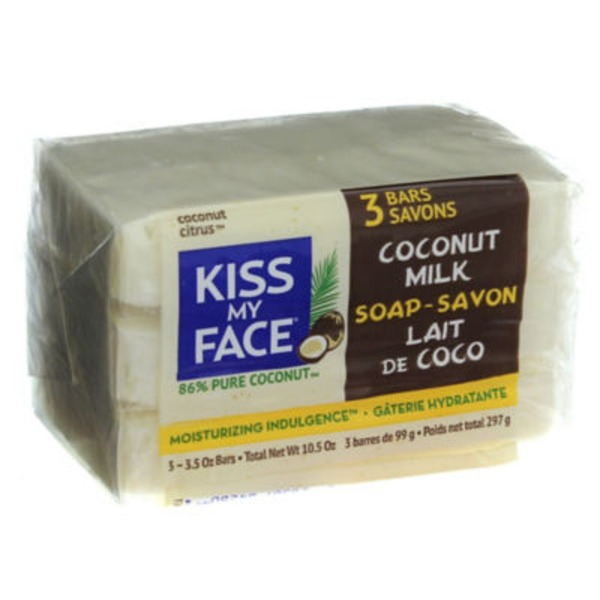 Kiss My Face Coconut Milk Soap - 3 PK