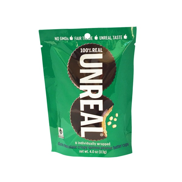 UnReal Dark Chocolate Crispy Quinoa Peanut Butter Cups Bag