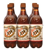 Diet A&W Root Beer, 0.5 L, 6 pack