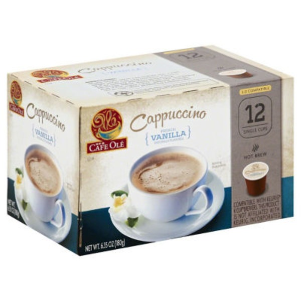 H-E-B Cafe Ole French Vanilla Cappuccino Single Serve Coffee Cups