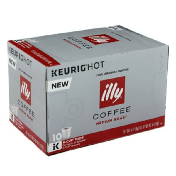 Illy Coffee Cafe Filtre Medium Roast K-Cup Pods - 10 CT