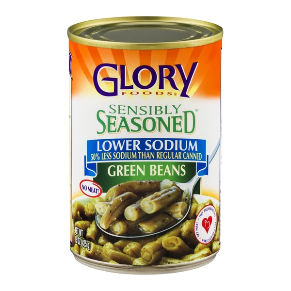 Glory Foods Sensibly Seasoned Green Beans Lower Sodium